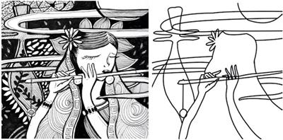 黑白装饰画的构图与表现方式