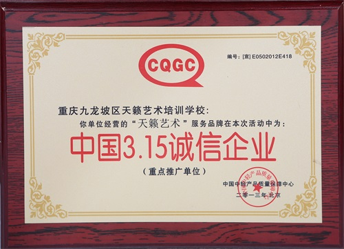中国3.15诚信企业