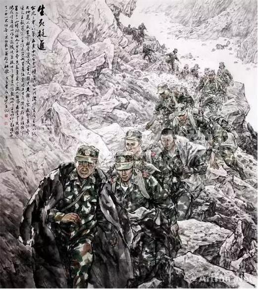 作为中国美术的重要组成部分,军旅美术伴随着纷飞的战火诞生,以一种激昂高亢的姿态记录着军队的风雨历程。从学养深厚、具有丰富创作经验的老一辈,到有着扎实学院派造型功底、在艺术形式语言的探索及创作观念方面勇于创新的中青年一代,都在从不同角度、以各异的题材展示着军旅新面貌,体现出鲜明的弘扬主旋律、强化正能量的美学特征。值此八一建军节之际,一起回顾那些让人印象深刻的军旅题材艺术作品,看看艺术家笔下最可爱的人。 经典力作:新中国美术精神的重要代表 在50年代初,中央美院接到建院以来的第一个国家课题,要求创作一批表