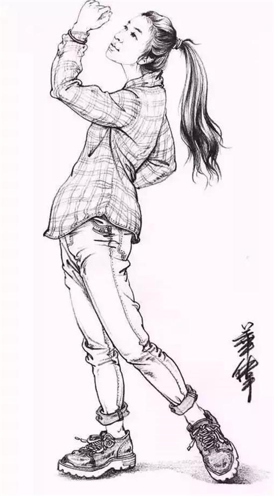 首页 速写教学 正文     例如:往年考题( 照片>女青年站姿,一只手特写