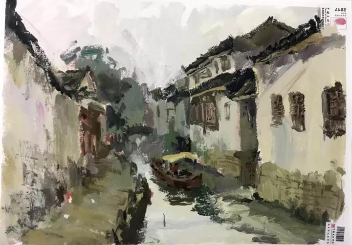 2017中国美术学院色彩风景高分卷