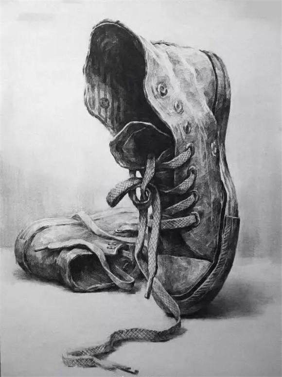 简易鞋子素描步骤