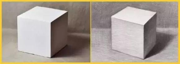 立方体的素描步骤图