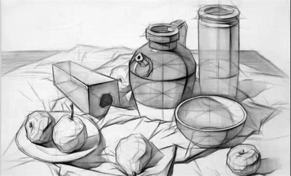 美术高考素描头像的四个步骤 素描教程—素描静物的步骤与技法 超级强