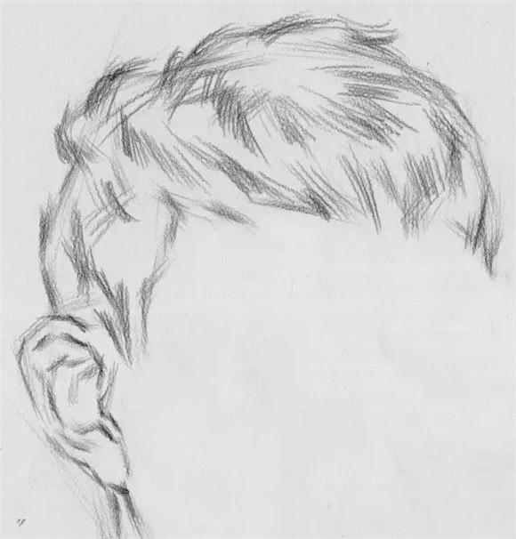 素描头像教学!头发处理方法