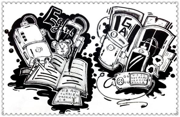 设计教学 正文  创意速写要求:    高分卷主要体现在两个方面:创意上