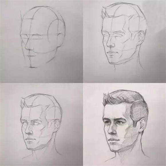 画素描头像,造型如何画准确