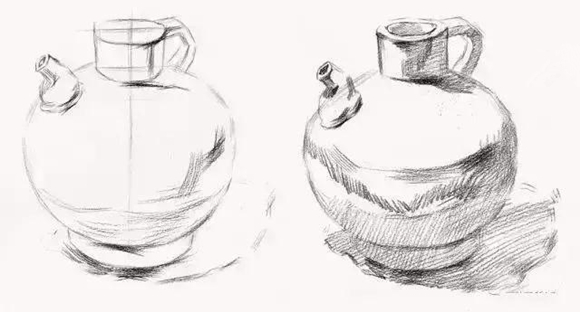 瓶子结构重组素描