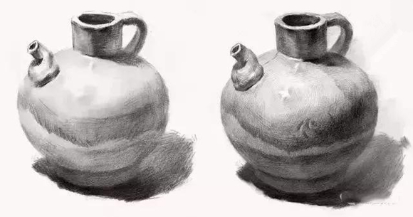 素描陶罐的绘画方法!美考生必看