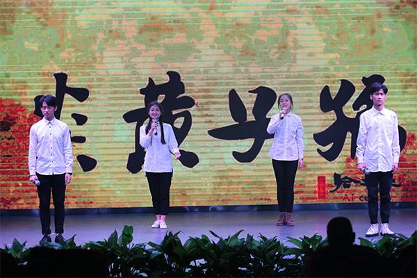 天籁艺术节播音学生表演